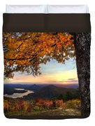 Autumn Lake Duvet Cover by Debra and Dave Vanderlaan