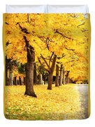 Autumn Perspective Duvet Cover by Carol Groenen