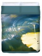 Autumn Ripples Duvet Cover by Lisa Knechtel