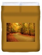 Autumn Serenity - Holmdel Park  Duvet Cover by Angie Tirado