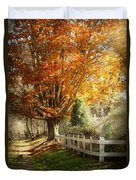 Autumn - Westfield Nj - I Love Autumn Duvet Cover by Mike Savad