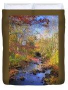Autumn Woods Duvet Cover by Joann Vitali