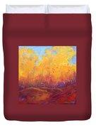 Autumn's Blaze Duvet Cover by Nancy Jolley