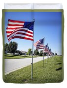 Avenue Of The Flags Duvet Cover by Cricket Hackmann