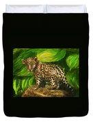 Baby Jaguar Duvet Cover by Jane Schnetlage