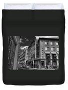 Bacco In Black And White Duvet Cover by Joann Vitali