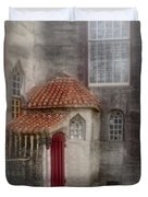 Back Door To The Castle Duvet Cover by Susan Candelario