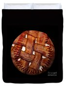 Bacon Weave Baseball Square Duvet Cover by Andee Design