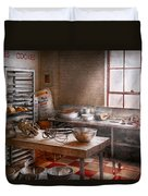 Baker - Kitchen - The Commercial Bakery  Duvet Cover by Mike Savad