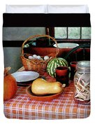 Baking A Squash And Pumpkin Pie Duvet Cover by Susan Savad