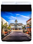 Balboa Main Street In Newport Beach Picture Duvet Cover by Paul Velgos