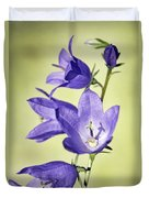 Balloon Flowers Duvet Cover by Tony Cordoza