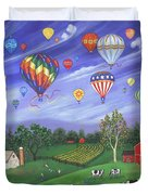 Balloon Race One Duvet Cover by Linda Mears