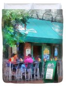 Baltimore - Happy Hour In Fells Point Duvet Cover by Susan Savad