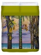 Banana country Duvet Cover by Vrindavan Das