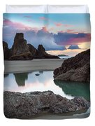 Bandon By The Sea Duvet Cover by Robert Bynum