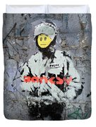 Banksy  Duvet Cover by A Rey