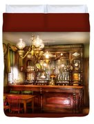 Bar - Bar And Tavern Duvet Cover by Mike Savad