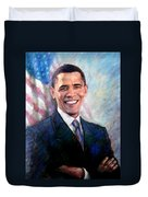 Barack Obama Duvet Cover by Viola El