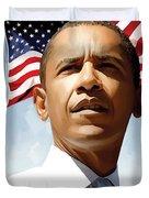 Barack Obama Artwork 1 Duvet Cover by Sheraz A