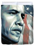 Barack Obama Artwork 2 B Duvet Cover by Sheraz A