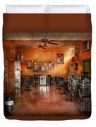 Barber - Union Nj - The Modern Salon  Duvet Cover by Mike Savad