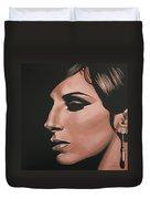 Barbra Streisand Duvet Cover by Paul Meijering