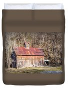 Barn By The Bluffs Duvet Cover by Cricket Hackmann