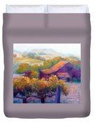 Barn Vineyard Duvet Cover by Carolyn Jarvis