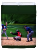 Baseball Batter Up Duvet Cover by Thomas Woolworth