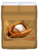 Baseball V Duvet Cover by Lourry Legarde
