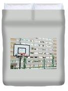 Basketball Court In A Social Neighbourhood Duvet Cover by Luis Alvarenga