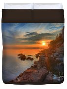 Bass Harbor Sunset Duvet Cover by Adam Jewell