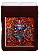 Bates Bicycle Duvet Cover by Mark Howard Jones