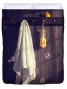 Bathroom Towel Duvet Cover by Amanda And Christopher Elwell