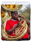 Battered Tuba Blues Duvet Cover by Steve Harrington