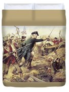 Battle Of Bennington Duvet Cover by Frederick Coffay Yohn