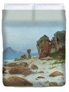 Bay Of Monterey Duvet Cover by Albert Bierstadt