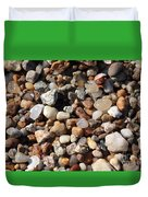 Beach Agates Duvet Cover by Carol Groenen