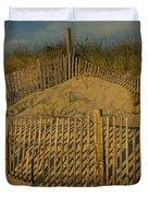 Beach Fence Duvet Cover by Susan Candelario