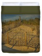Beach Fence Duvet Cover by Susan Candelario