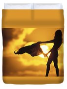 Beach Girl Duvet Cover by Sean Davey