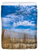 Beach Under Blue Skies Duvet Cover by Debra and Dave Vanderlaan