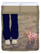 Beach Walk Duvet Cover by Laurie Search
