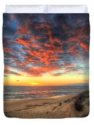 Beachcombers Sunset Duvet Cover by English Landscapes