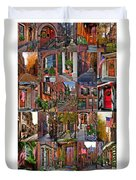 Beacon Hill - Poster Duvet Cover by Joann Vitali