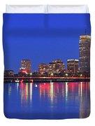 Beantown City Lights Duvet Cover by Juergen Roth