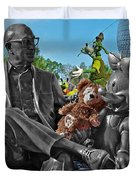 Bear And His Mentors Walt Disney World 03 Duvet Cover by Thomas Woolworth