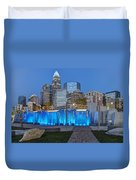 Bearden Blue Duvet Cover by Chris Austin