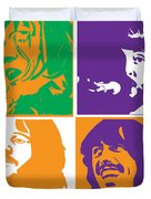 Beatles Vinil Cover Colors Project No.02 Duvet Cover by Caio Caldas